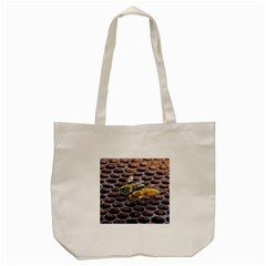 Worker Bees On Honeycomb Tote Bag (Cream)