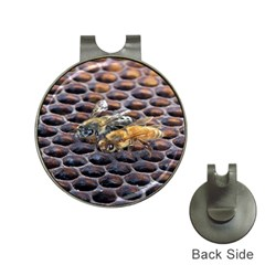 Worker Bees On Honeycomb Hat Clips With Golf Markers
