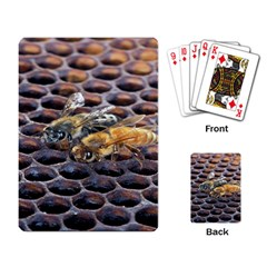 Worker Bees On Honeycomb Playing Card