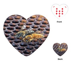 Worker Bees On Honeycomb Playing Cards (Heart)