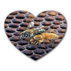 Worker Bees On Honeycomb Heart Mousepads