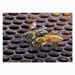 Worker Bees On Honeycomb Large Glasses Cloth (2-Side)