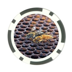 Worker Bees On Honeycomb Poker Chip Card Guard