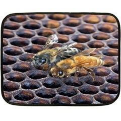Worker Bees On Honeycomb Double Sided Fleece Blanket (Mini)