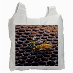 Worker Bees On Honeycomb Recycle Bag (one Side)