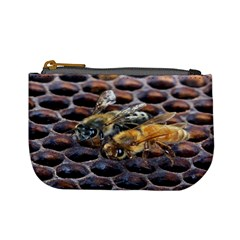Worker Bees On Honeycomb Mini Coin Purses