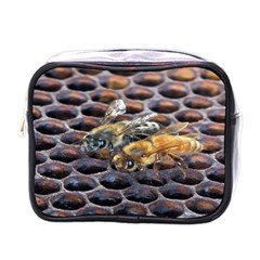 Worker Bees On Honeycomb Mini Toiletries Bags
