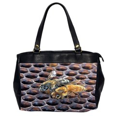 Worker Bees On Honeycomb Office Handbags (2 Sides)