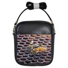 Worker Bees On Honeycomb Girls Sling Bags