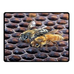 Worker Bees On Honeycomb Fleece Blanket (Small)