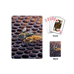Worker Bees On Honeycomb Playing Cards (mini)