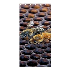 Worker Bees On Honeycomb Shower Curtain 36  x 72  (Stall)