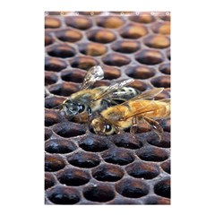 Worker Bees On Honeycomb Shower Curtain 48  x 72  (Small)