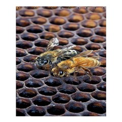 Worker Bees On Honeycomb Shower Curtain 60  x 72  (Medium)