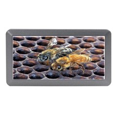 Worker Bees On Honeycomb Memory Card Reader (Mini)