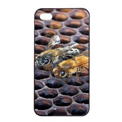 Worker Bees On Honeycomb Apple iPhone 4/4s Seamless Case (Black)