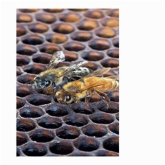 Worker Bees On Honeycomb Small Garden Flag (Two Sides)