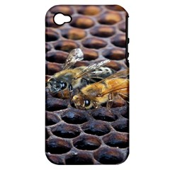 Worker Bees On Honeycomb Apple Iphone 4/4s Hardshell Case (pc+silicone)