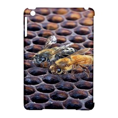 Worker Bees On Honeycomb Apple iPad Mini Hardshell Case (Compatible with Smart Cover)