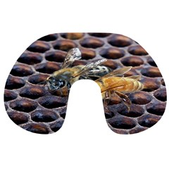 Worker Bees On Honeycomb Travel Neck Pillows