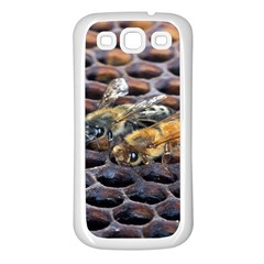 Worker Bees On Honeycomb Samsung Galaxy S3 Back Case (White)