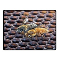 Worker Bees On Honeycomb Double Sided Fleece Blanket (small)