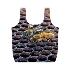 Worker Bees On Honeycomb Full Print Recycle Bags (m)