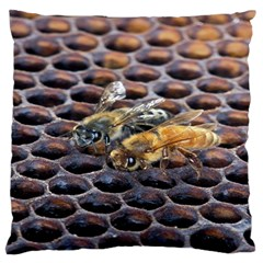 Worker Bees On Honeycomb Large Flano Cushion Case (two Sides)