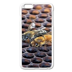 Worker Bees On Honeycomb Apple iPhone 6 Plus/6S Plus Enamel White Case