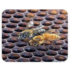 Worker Bees On Honeycomb Double Sided Flano Blanket (medium)