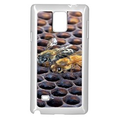 Worker Bees On Honeycomb Samsung Galaxy Note 4 Case (White)