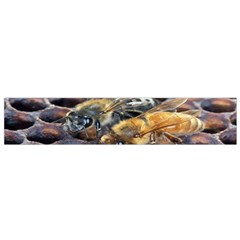 Worker Bees On Honeycomb Flano Scarf (small)