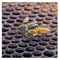 Worker Bees On Honeycomb Large Satin Scarf (Square)