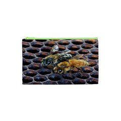Worker Bees On Honeycomb Cosmetic Bag (xs)