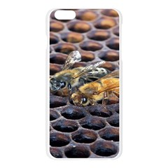 Worker Bees On Honeycomb Apple Seamless iPhone 6 Plus/6S Plus Case (Transparent)