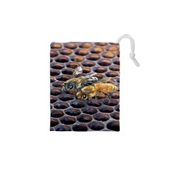 Worker Bees On Honeycomb Drawstring Pouches (XS)