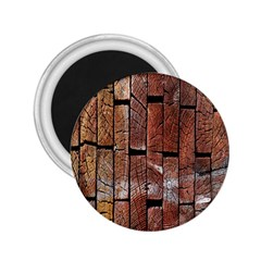 Wood Logs Wooden Background 2 25  Magnets
