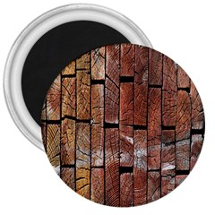Wood Logs Wooden Background 3  Magnets