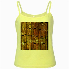 Wood Logs Wooden Background Yellow Spaghetti Tank