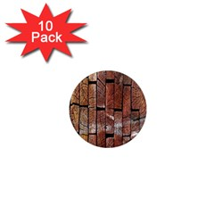 Wood Logs Wooden Background 1  Mini Magnet (10 pack)