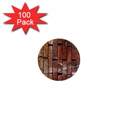 Wood Logs Wooden Background 1  Mini Buttons (100 pack)