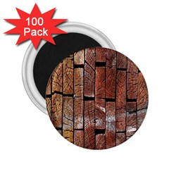 Wood Logs Wooden Background 2.25  Magnets (100 pack)