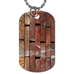 Wood Logs Wooden Background Dog Tag (one Side)