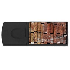 Wood Logs Wooden Background USB Flash Drive Rectangular (1 GB)