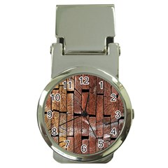 Wood Logs Wooden Background Money Clip Watches