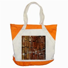 Wood Logs Wooden Background Accent Tote Bag