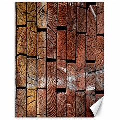Wood Logs Wooden Background Canvas 18  x 24