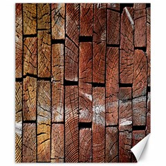 Wood Logs Wooden Background Canvas 20  X 24