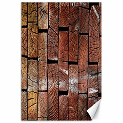 Wood Logs Wooden Background Canvas 20  x 30