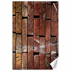 Wood Logs Wooden Background Canvas 24  X 36